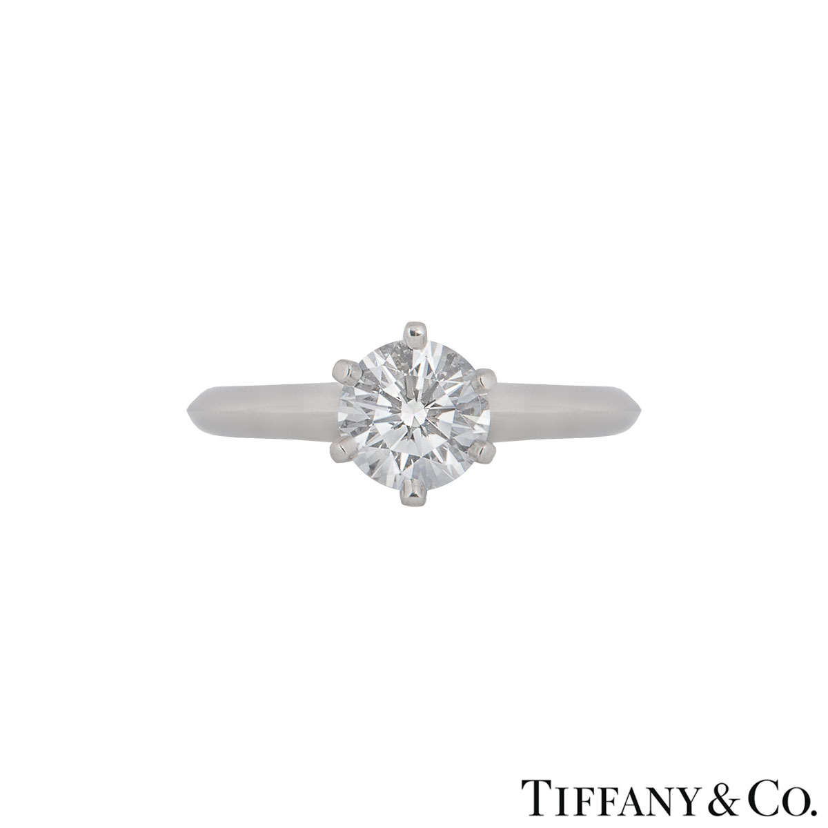 Tiffany & Co. Platinum Diamond Setting Ring 1.01ct E/VS1